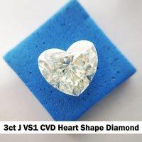 CVD Diamond 3ct J VS1 Heart shape Diamond , Non cert