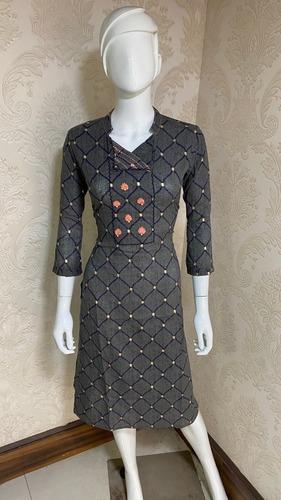 EMBROIDER RAYON DRESS