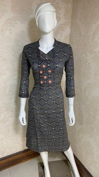 EMBROIDER RAYON DRESS