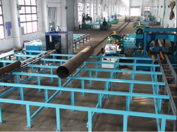 Double Purpose Type Pipe Fabrication Production Line