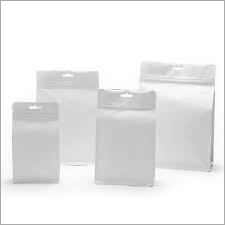 White Laminated Paper Pouch Bag