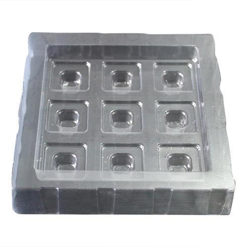 9 Cavities Plastic Chocolate Tray