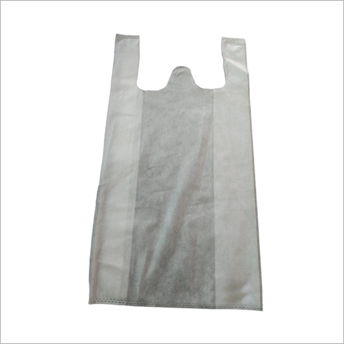 White W Cut Non Woven Bag