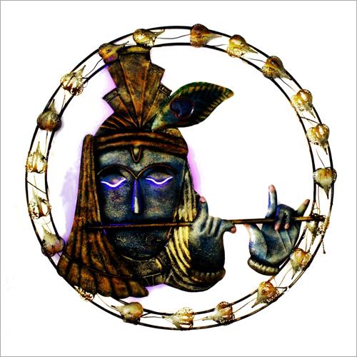 Lord Krishna Metal Wall Hanging