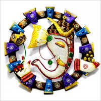 Round Shape Lord Ganesh Wall Hanging