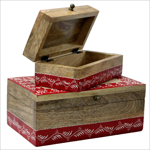 Square Shaped Wooden Box
