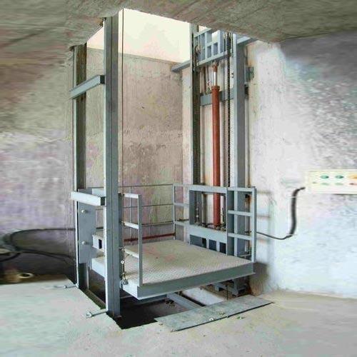 Double Mast Hydraulic Goods Lift