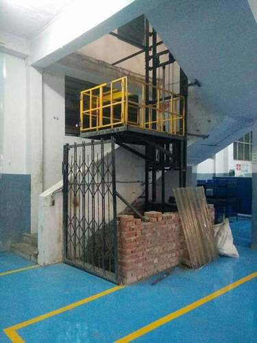 Single mask hydrolics goods lift,wall mounted stacker