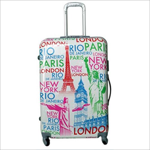Printed Hard Luggage Bag