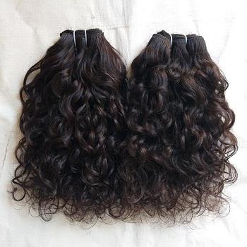 Vintage Raw curly human hair