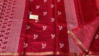 Pure Dupion Raw Silk Handloom Half Body Full Jala ,half Body Booti Jala Saree.