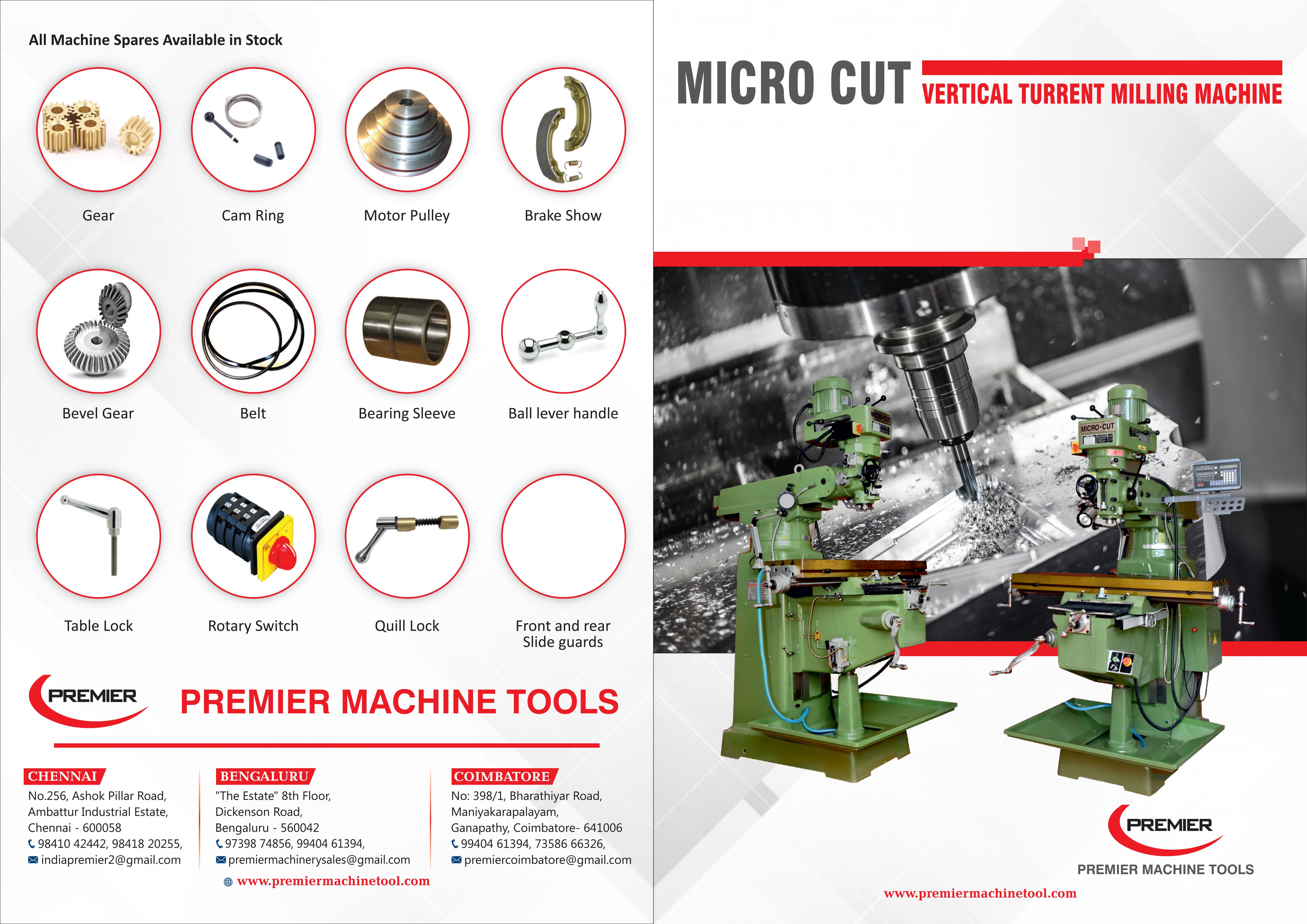 Vertical Turret Microcut Milling Machine