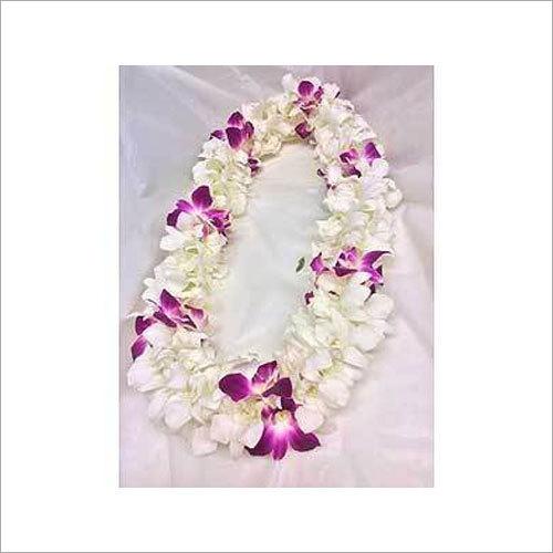 White Orchid Flower Garland