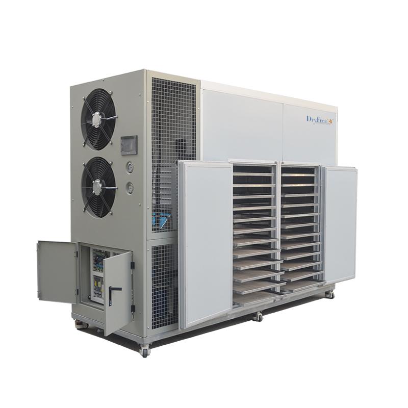 Hot air dehumidifier for fish drying machine
