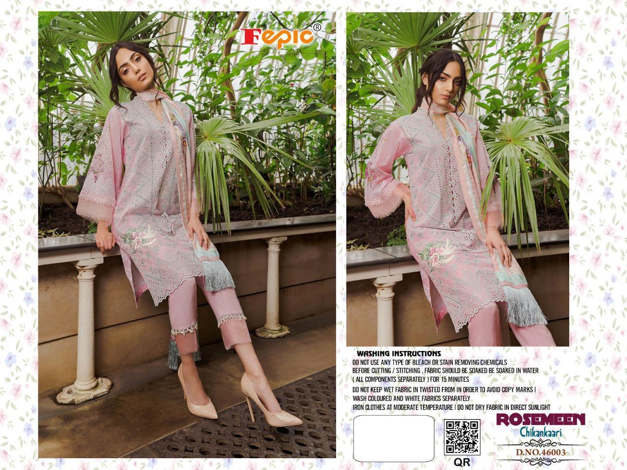 Cotton Chikan Suit