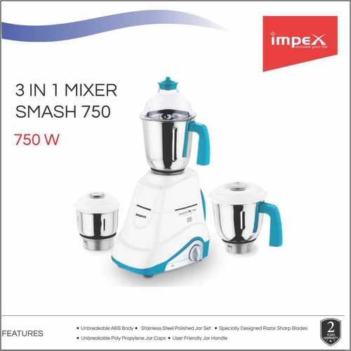 Impex Smash 750 Watts 3 in 1 Mixer Grinder
