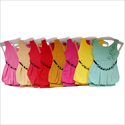 Girls Sleeveless Fancy Top