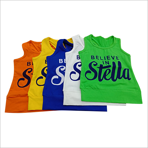 Kids Printed Sleeveless T-Shirts