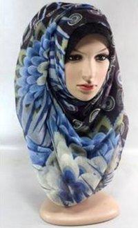 Printed scarf & goerget scarf