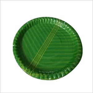 Green Disposable Paper Plate