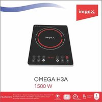 Impex OMEGA-H3A Touch Control Induction Cooktop Without Pot (1500 Watts,Black)