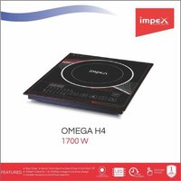 Impex Omega-H4 Touch Control Induction Cooktop Without Pot (1700 Watts,Black)