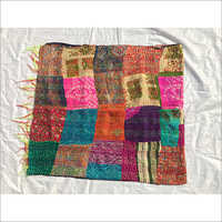 Peach Work Kantha Stitch Stole