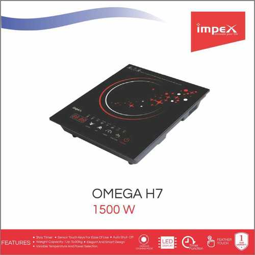Impex OMEGA-H7 Touch Control Induction Cooktop Without Pot (1500 Watts,Black)