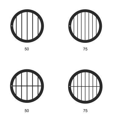 Parallel bar grids - Copper