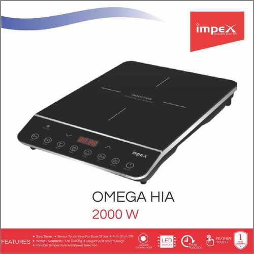 Impex OMEGA-H1A Touch Control Induction Cooktop Without Pot (2000 Watts,Black)