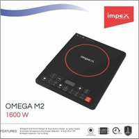Impex Omega-M2 Light Weight Induction Cooktop Without Pot (1600 Watts,Black)