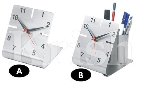 Square L Shape Desktop clock