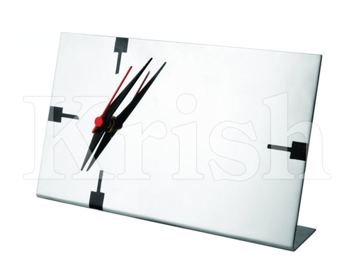 Long Desktop Clock with Photo Holder