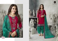 Pure Silk Embroidered Suit
