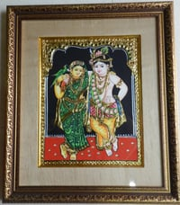 CAUVERY Arts & FRAMING, Meenakari Work on Marble with Antique Frame and Glass, Dimensions of Frame