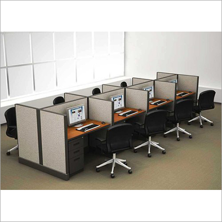Wood Aluminium Computer Workstation, For Corporate Office