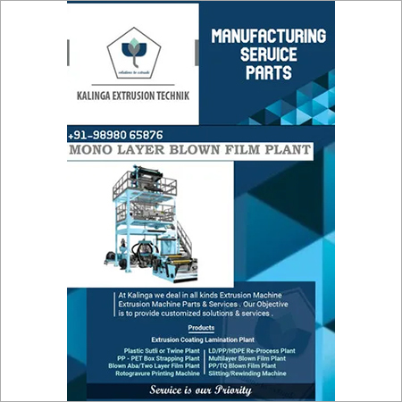 Mono Layer Blown Film Extrusion Line