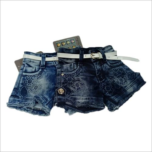 Kids Fashionable Denim Shorts
