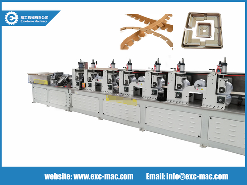 High speed paper edge protector machine with online punching device
