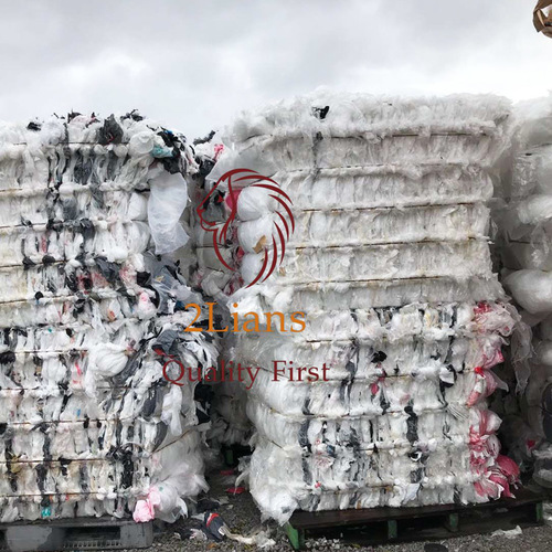LDPE film mix color on bales japan scrap plastic