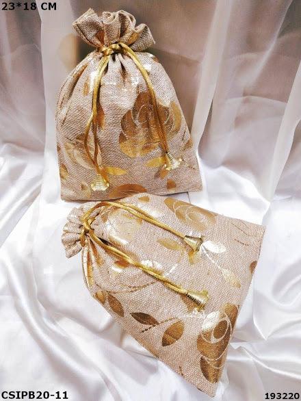 Handmade Jute Batua Potli Bags