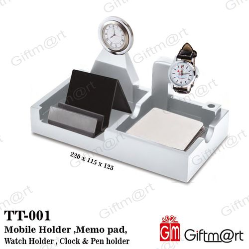 Mobile Holder ,Memo pad, Watch holder , clock & Pen holder