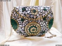 Mosaic Antique Metal Clutch Bag