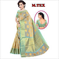 Ladies Party Wear Printed Silk Saree