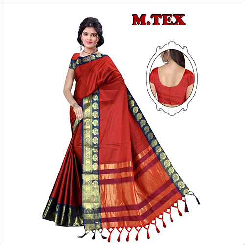 Ladies Embroidered Silk Saree