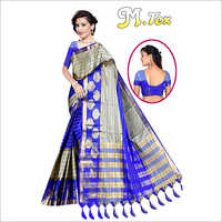 Ladies Striped Designer Silk Saree