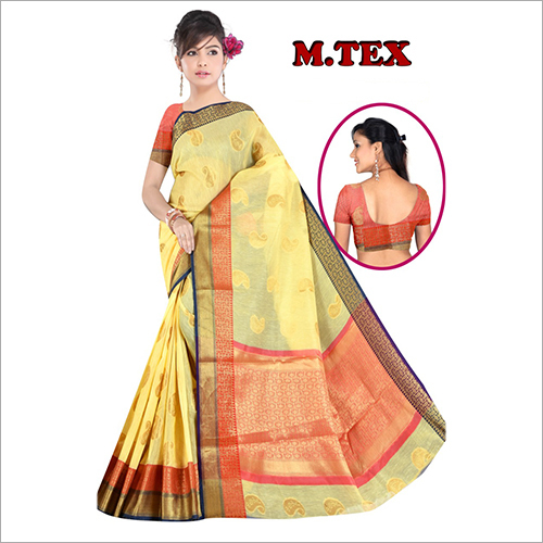 Ladies Chanderi Designer Silk Saree
