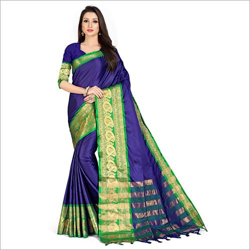 Ladies Party Wear Plain Saree