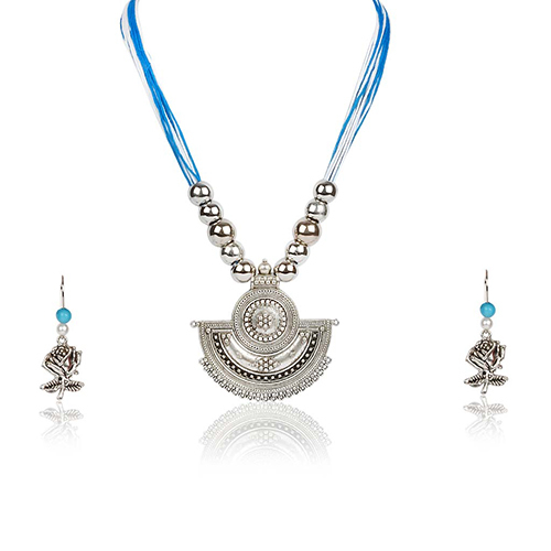 Ethnical Necklace With Earings Set