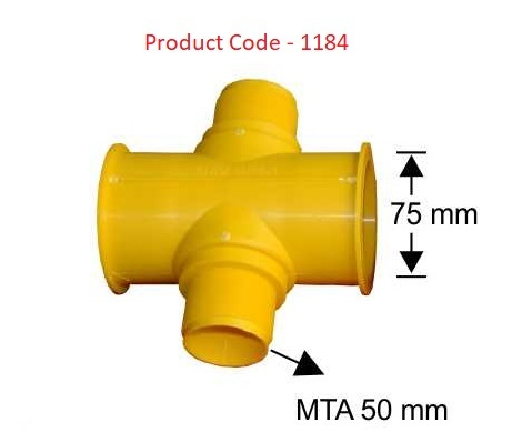 4 Way Coupler / 75 mm / MTA 50 mm